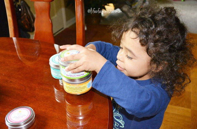 My Alex is enjoying stacking these tins. We will definitely reuse them once the product runs out!